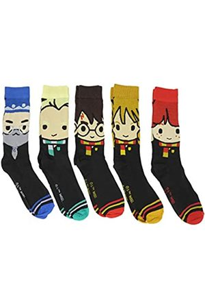 HYP Herren Socken & Strümpfe - Harry Potter Hogwarts Character Faces Crew Socken 5 Paar Pack