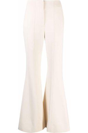 Proenza Schouler Textured Suiting Flared Pants - Nude