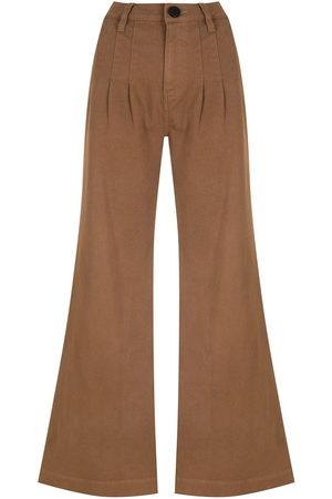 Andrea Bogosian Damen Cropped - Weite Jeans mit hohem Bund