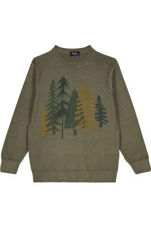Il gufo Bedruckter Pullover aus Wolle