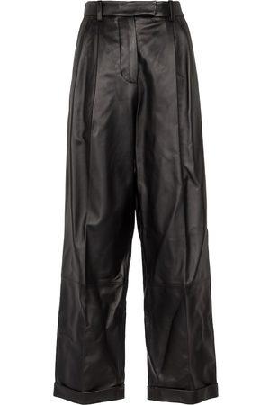 Marni High-Rise-Hose aus Leder