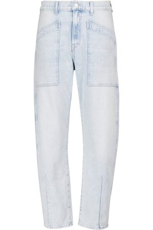Veronica Beard High-Rise Cropped Jeans Charlie