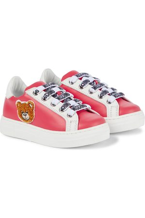 Moschino Kids Sneakers aus Leder