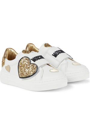 Moschino Kids Verzierte Sneakers aus Leder