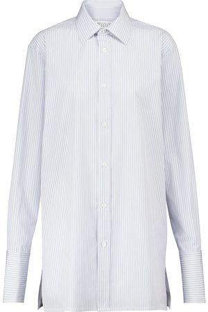 Maison Margiela Gestreiftes Hemd aus Baumwollpopeline