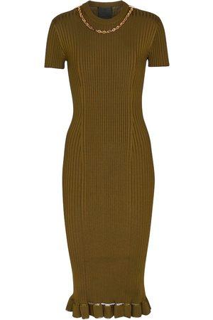Givenchy Damen Midikleider - Geripptes Midikleid
