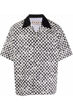 Marni T-Shirt mit Würfel-Print