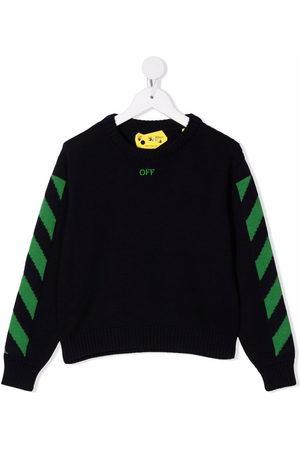 Off-White Kids Jungen Strickpullover - Pullover mit diagonalen Streifen