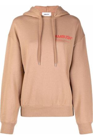 AMBUSH Damen Sweatshirts - FLEECE WORKSHOP HOODIE NATURAL VALIANT P - Nude