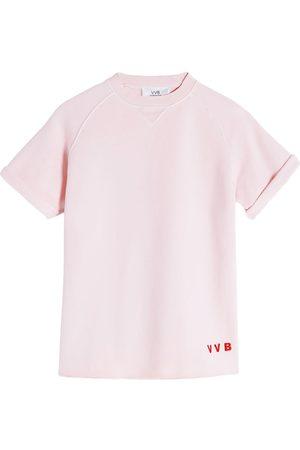Victoria Victoria Beckham Logo-embroidered cotton T-shirt