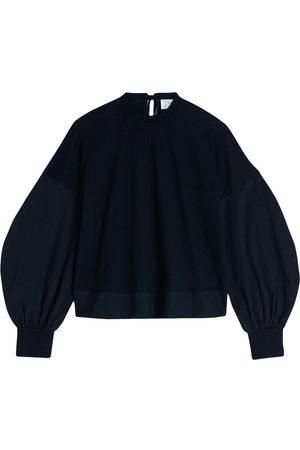 Victoria Victoria Beckham Bell-sleeve cotton jumper