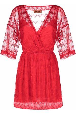 Missoni Kleid mit Sheer-Ärmeln