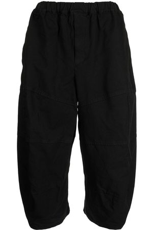 Black Comme Des Garçons Cropped balloon trousers