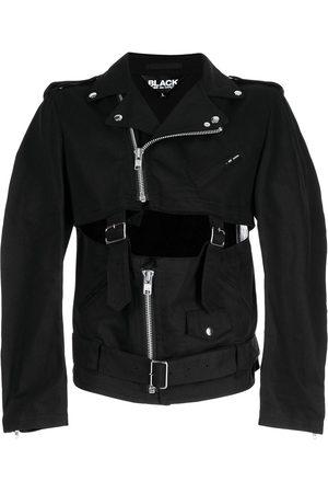 Black Comme Des Garçons Belted cut-out biker jacket