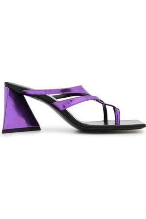 The Attico Metallic leather sandals