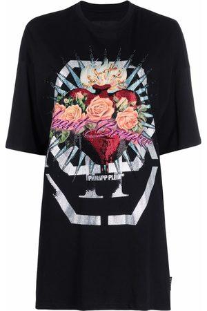Philipp Plein T-Shirtkleid mit Heart Breaker-Print
