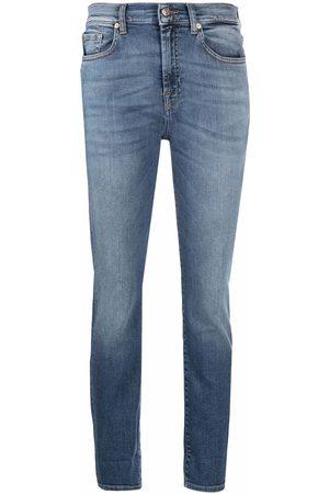 7 for all Mankind Cropped-Jeans mit hohem Bund