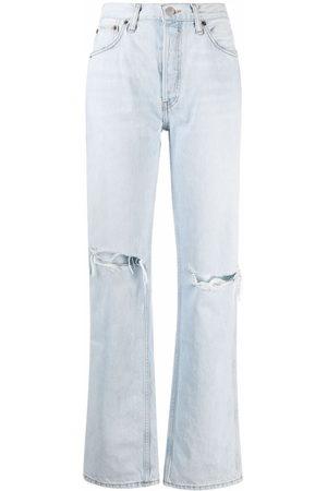RE/DONE Jeans in Distressed-Optik