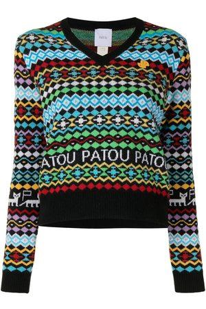 Patou Gemusterter Pullover - Mehrfarbig
