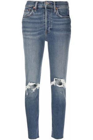 RE/DONE Damen Slim - Dusk Destroy distressed slim jeans