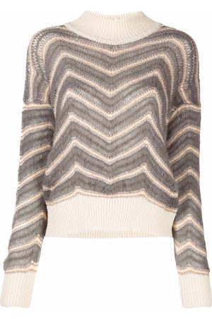 Fabiana Filippi Chevron-knitted jumper - Nude