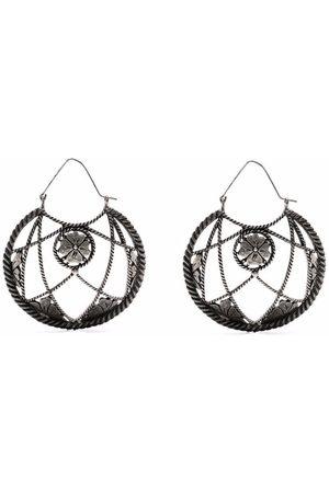 Yves Saint Laurent 1990s floral detail earrings