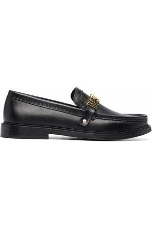 Moschino Logo plaque loafers