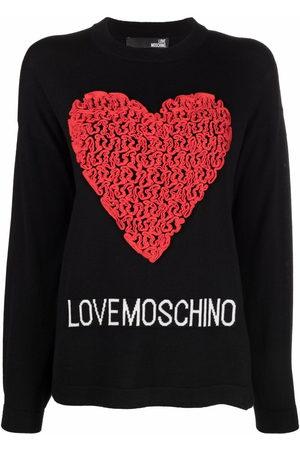 Love Moschino Pullover mit Herzapplikation