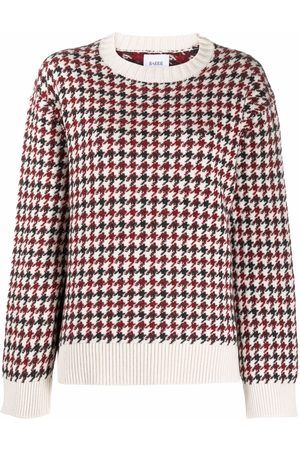 Barrie Pullover mit Hahnentrittmuster