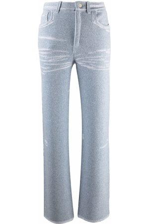 Barrie Damen Hosen & Jeans - Strickhose mit geradem Bein
