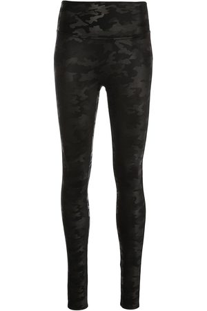 Spanx Faux leather camouflage-print leggings