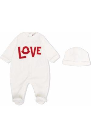 Moncler Enfant Love Strampler-Set mit Logo-Detail