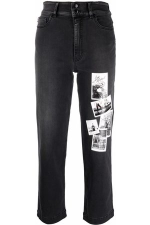 Love Moschino Halbhohe Cropped-Jeans