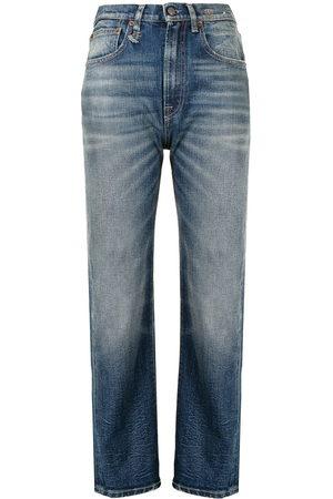 R13 Gerade High-Rise-Jeans