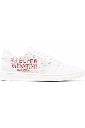 VALENTINO GARAVANI Atelier low-top sneakers - 0BO BIANCO ROSSO