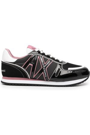 Armani Logo-patch lace-up sneakers - Mehrfarbig