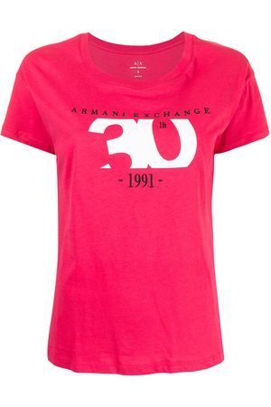 Armani Damen Shirts - Logo crew-neck T-shirt