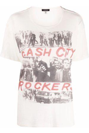 R13 Cash City Rockers T-Shirt - Nude