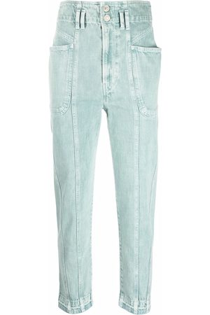 Isabel Marant Hoch sitzende Tapered-Jeans