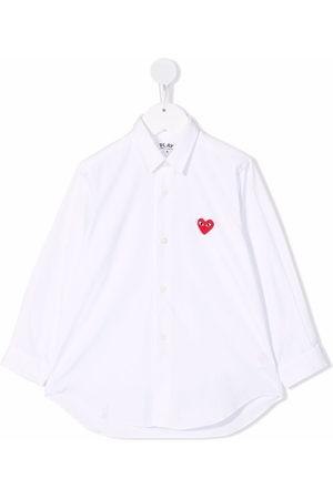 Comme des Garçons Mädchen Blusen - Hemd mit Herzdetail