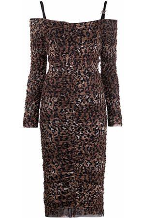 BLUMARINE Kleid mit Leoparden-Print