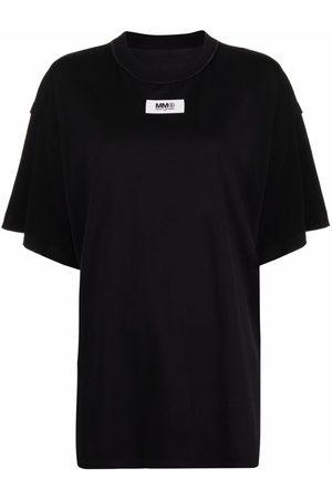 MM6 MAISON MARGIELA Logo-patch oversized T-shirt