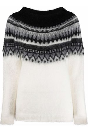 P.a.r.o.s.h. Pullover mit Fair-Isle-Muster - Nude