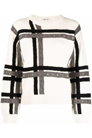 PORTS 1961 Cable-trim jumper - Nude