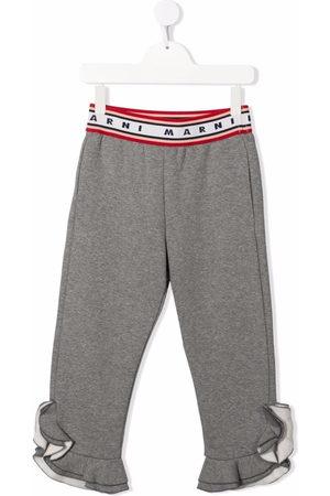 Marni Jersey ruffle-cuff trousers