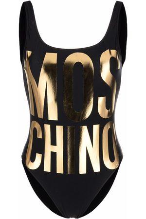 Moschino Damen Badeanzüge - Badeanzug mit Metallic-Effekt