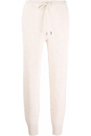 JONATHAN SIMKHAI Ribbed knit track pants - Nude