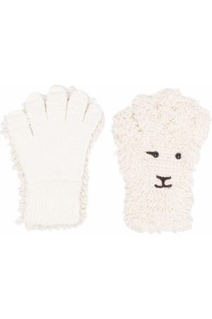 DOUBLET Felted sheep knit gloves - Nude
