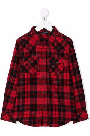 Diesel Check-print button-up shirt