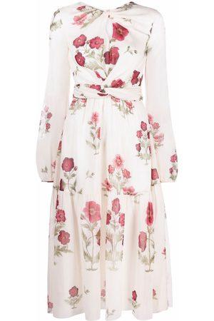 Giambattista Valli Floral-print silk midi dress